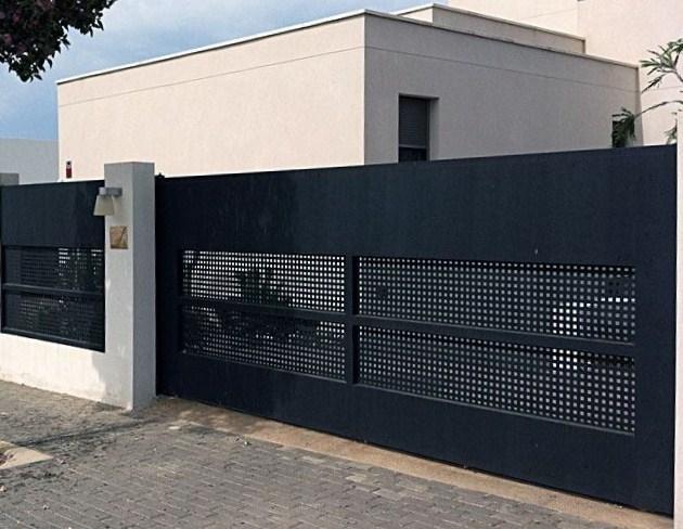 Puertas Corredera Hermanos Lopez Esquivel Carpinteria Metalica - Puerta-corredera-metalica